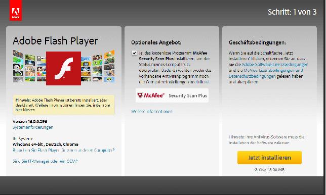 So geht's - Flash Player deaktivieren im Browser