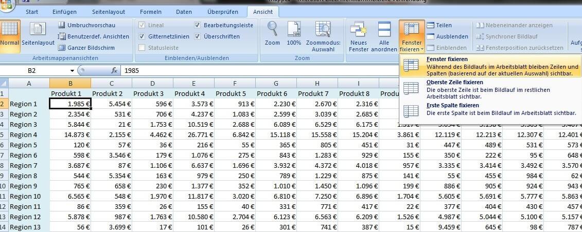 Excel tricks die top 5 der besten tipps expertiger for Xls fenster fixieren