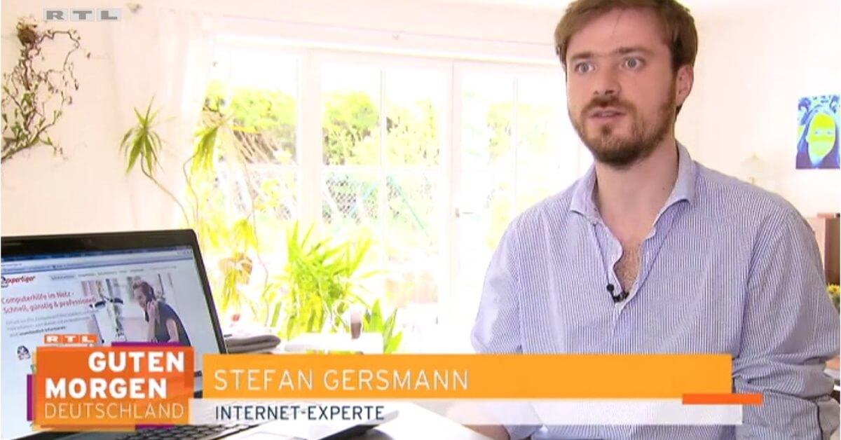 RTL-Frühstücksfernsehen - Stefan als WLAN-Experte