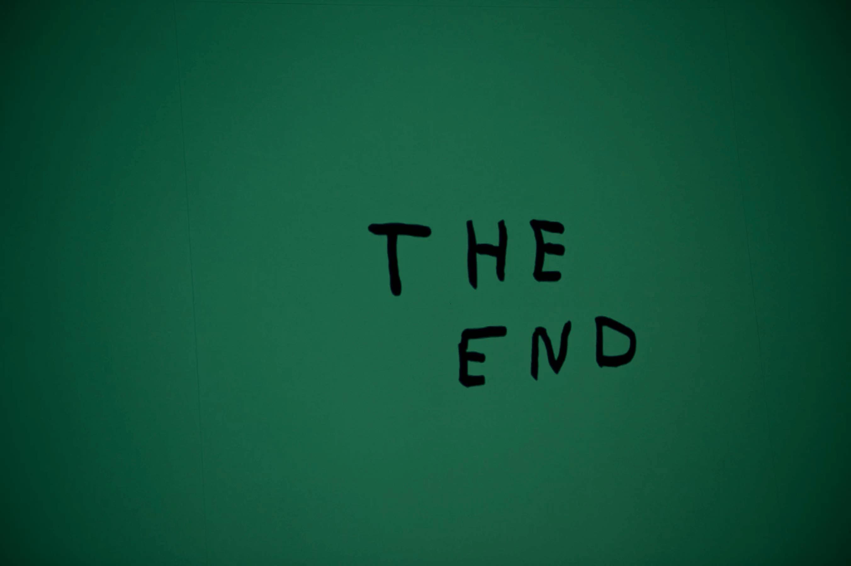 the end Hintergrund grün