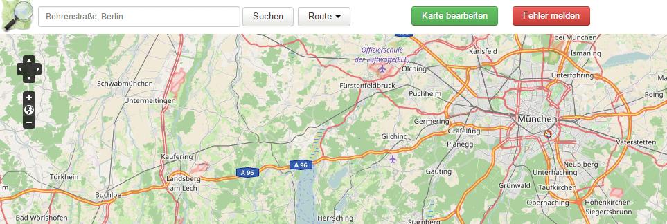 Google Maps Alternativen OSM