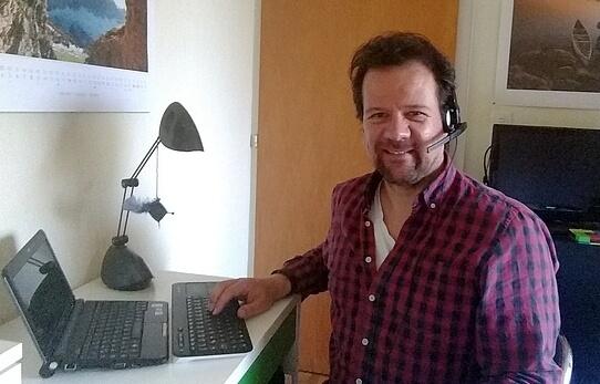 Experte Michael Bartusch bei der Arbeit