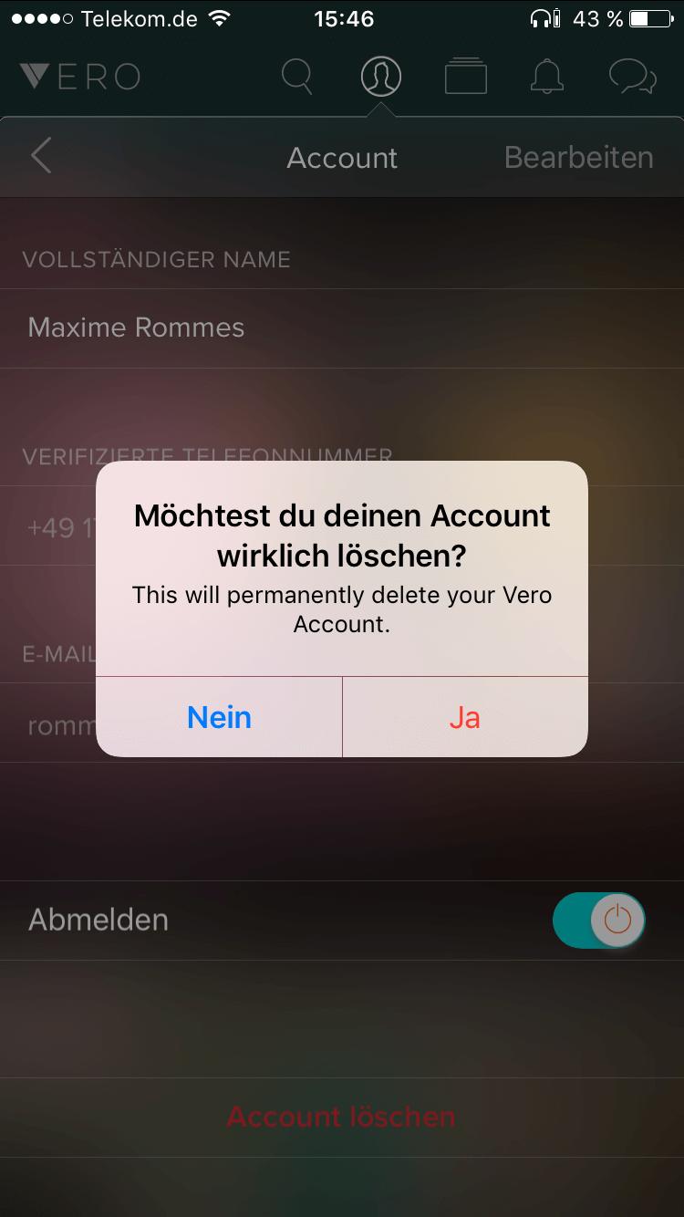 Wie Lösche Ich Meinen Account wie kann ich meinen vero account löschen expertiger computerhilfe