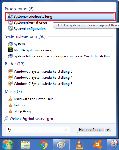 Systemwiederherstellung Computersicherheit