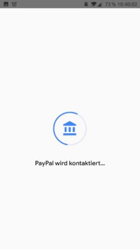 Google Pay -PayPal einrichten - PayPal synchronisiert mit Google Pay