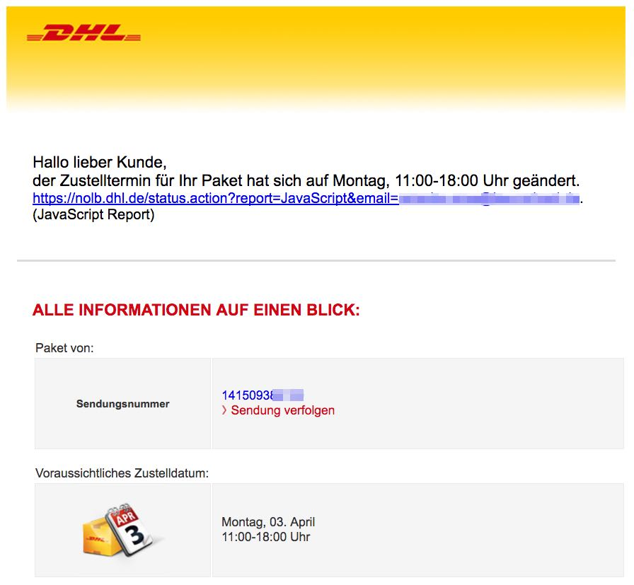 Dhl Spam Mail