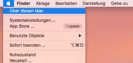 Über diesen Mac auswählen