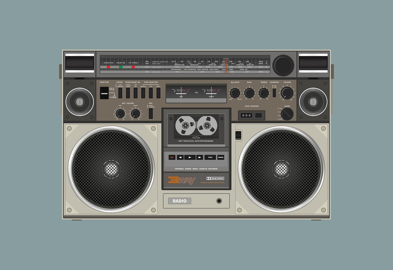Ghettoblaster Lautsprecher Grafik