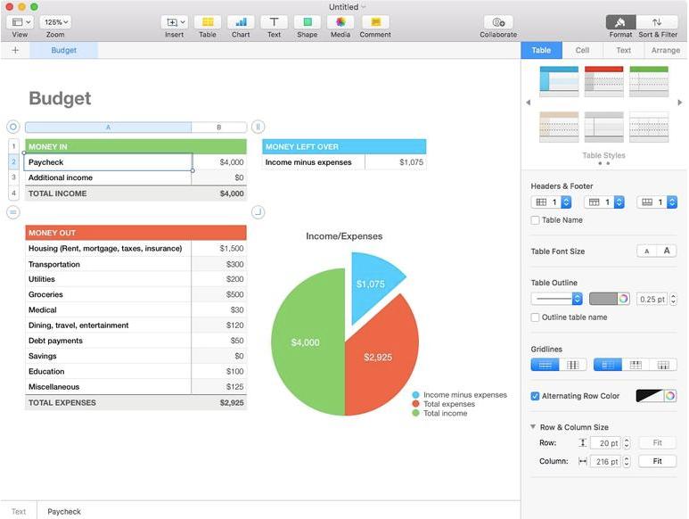 Die Excel-Alternative von Apple