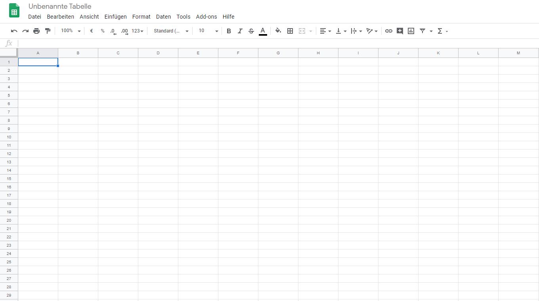 Sheets - der Excel-Konkurrent von Google