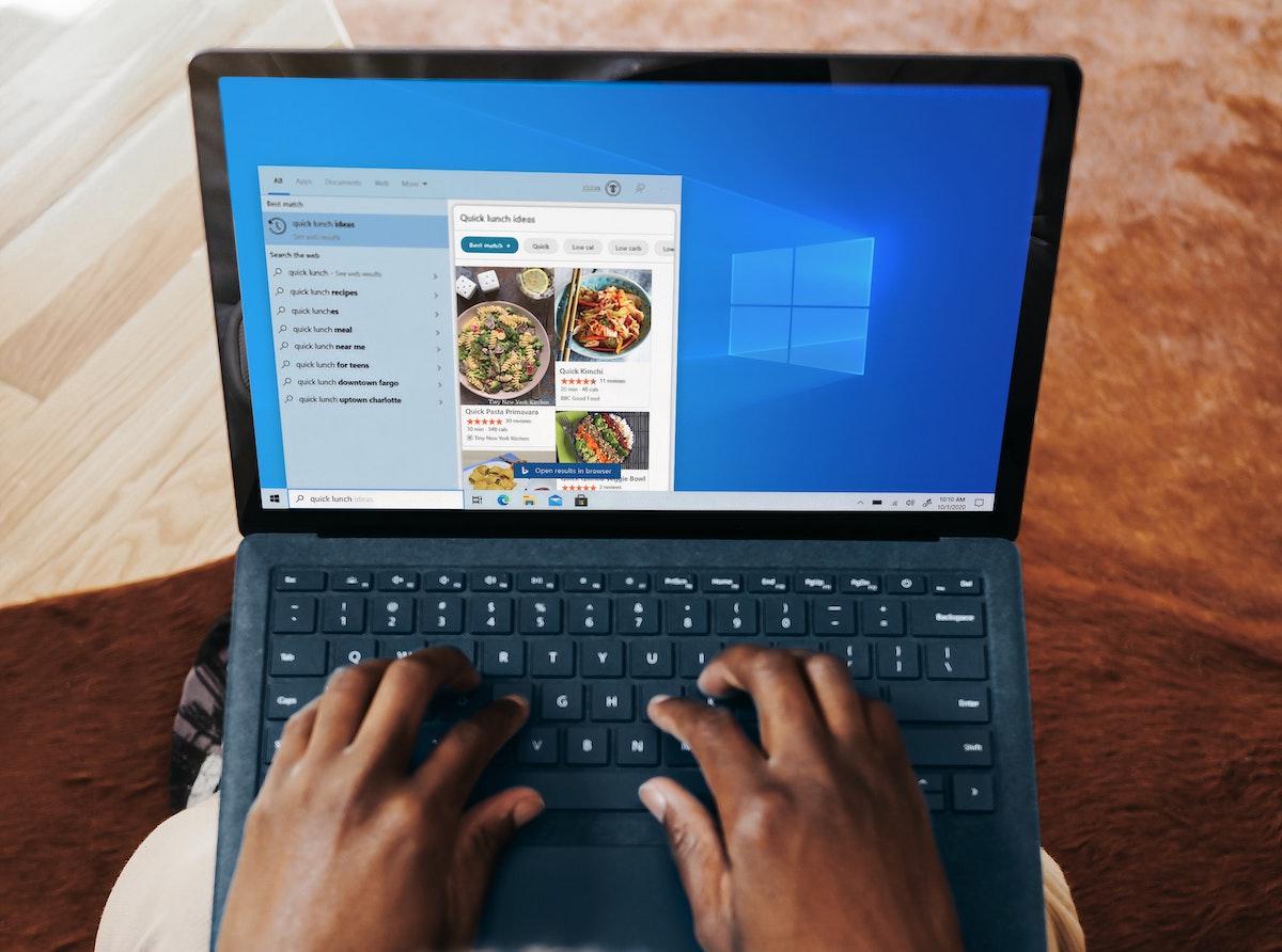 Bildschirm bei Windows 10 mit geteiltem Bildschirm